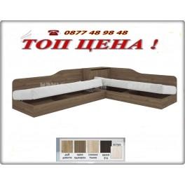 Ъглови легла СИТИ 2001 в цвят орех адмирал